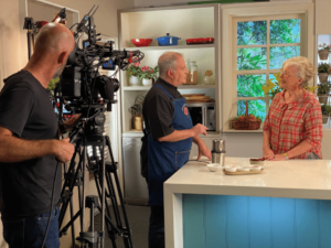 Maggie Beer behind the scenes of our content production