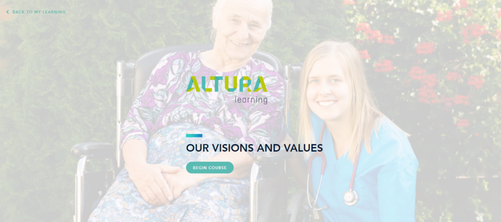 personalised courses for aged care providers